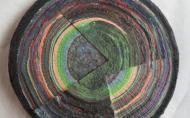 Scheibe vom bunten Baum(Ⅰ-2)/Annual rings/나이테 ∅40cmx6cm 2014-16
