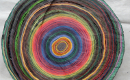 Scheibe vom bunten Baum(Ⅱ-2)/Annual rings/나이테 ∅40cmx6cm 2014-16