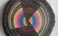 Scheibe vom bunten Baum(Ⅴ-2)/Annual rings/나이테 ∅40cmx6cm 2014-16