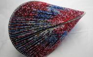 Oloid/올로이드 Ⅱ 22x31x22cm 12.11 은철사, 색구슬, 한지(Gottfried Stockmar)