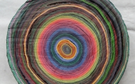 Scheibe vom bunten Baum(Ⅱ-1)/Annual rings/나이테 ∅40cmx6cm 2014-16