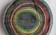 Scheibe vom bunten Baum(Ⅲ-2)/Annual rings/나이테 ∅40cmx6cm 2014-16