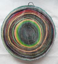 Scheibe vom bunten Baum(Ⅳ-1)/Annual rings/나이테 ∅40cmx6cm 2014-16