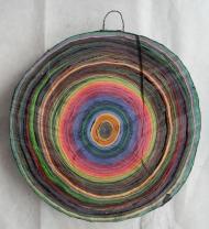 Scheibe vom bunten Baum(Ⅴ-1)/Annual rings/나이테 ∅40cmx6cm 2014-16