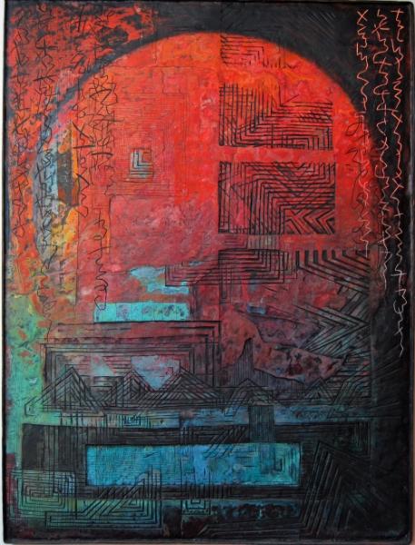 An Karl Ballmer denkend/Thinking of Karl Ballmer 86x68cm 2012